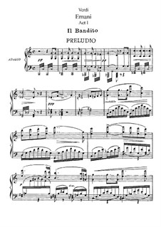 Эрнани: Акт I. Переложение для солистов, хора и фортепиано by Джузеппе Верди