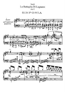 Битва при Леньяно: Акт I, для солистов, хора и фортепиано by Джузеппе Верди