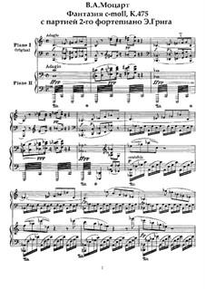 Фантазия для фортепиано No.4 до минор, K.475: Для двух фортепиано в 4 руки by Вольфганг Амадей Моцарт