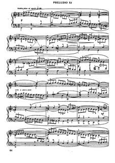 Прелюдия и фуга No.11 фа мажор, BWV 880: Для фортепиано by Иоганн Себастьян Бах