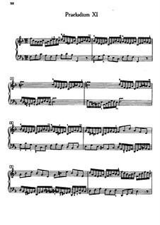 Прелюдия и фуга No.11 фа мажор, BWV 856: Для фортепиано (под редакцией Кройца) by Иоганн Себастьян Бах