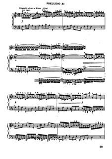 Прелюдия и фуга No.11 фа мажор, BWV 856: Для фортепиано (под редакцией Муджеллини) by Иоганн Себастьян Бах