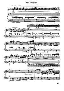 Прелюдия и фуга No.16 соль минор, BWV 861: Для фортепиано (под редакцией Муджеллини) by Иоганн Себастьян Бах