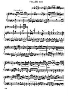 Прелюдия и фуга No.18 соль-диез минор, BWV 887: Для фортепиано (Редакция Муджеллини) by Иоганн Себастьян Бах