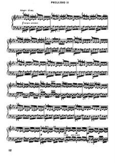 Прелюдия и фуга No.2 до минор, BWV 847: Для фортепиано (под редакцией Муджеллини) by Иоганн Себастьян Бах