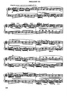 Прелюдия и фуга No.20 ля минор, BWV 889: Редакция Муджеллини by Иоганн Себастьян Бах