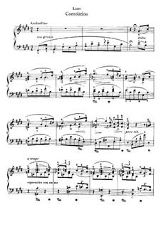 Утешения, S.172: No.5 ми мажор by Франц Лист