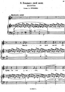 Песни и романсы (Том I), Nos.1-23: No.8 Владыко дней моих by Александр Даргомыжский