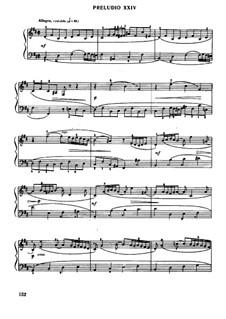Прелюдия и фуга No.24 си минор, BWV 893: Для фортепиано by Иоганн Себастьян Бах