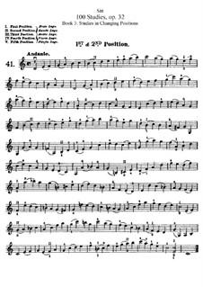 Hundred Studies for Violin, Op.32: Книга III by Ганс Зитт