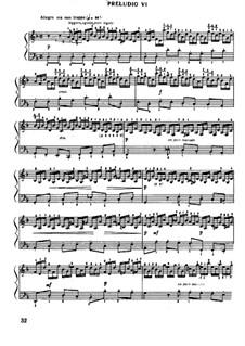 Прелюдия и фуга No.6 ре минор, BWV 851: Редакция Муджеллини by Иоганн Себастьян Бах