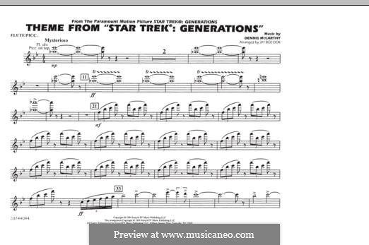 Star Trek(R) Generations: Flute/Piccolo part by Dennis McCarthy