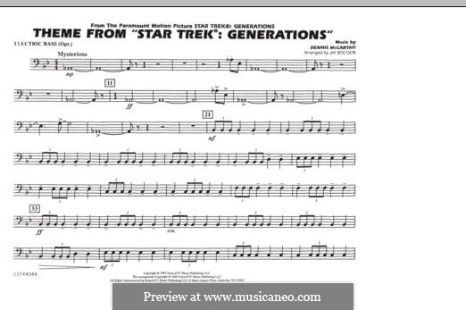 Star Trek(R) Generations: Electric Bass part by Dennis McCarthy