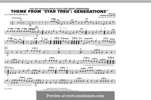 Star Trek(R) Generations: Multiple Bass Drums part by Dennis McCarthy