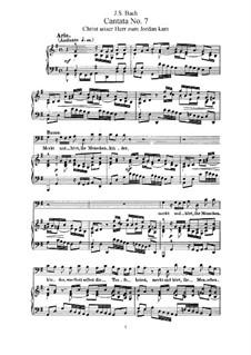 Christ unser Herr zum Jordan kam, BWV 7: Клавир с вокальной партией by Иоганн Себастьян Бах