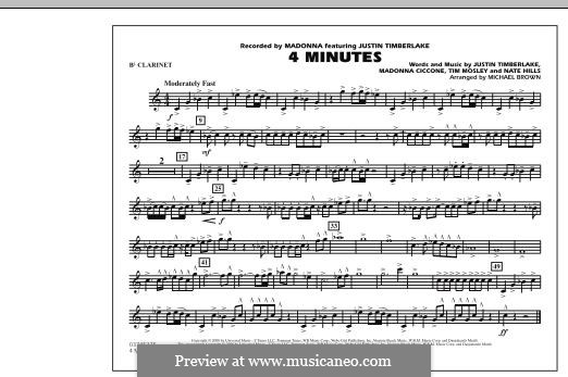 4 Minutes (Madonna featuring Justin Timberlake): Bb Clarinet part by Madonna, Floyd Nathaniel Hills, Timbaland