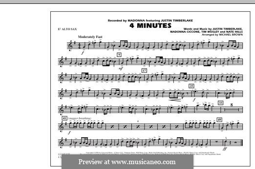 4 Minutes (Madonna featuring Justin Timberlake): Eb Alto Sax part by Madonna, Floyd Nathaniel Hills, Timbaland