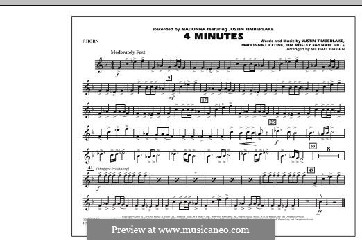 4 Minutes (Madonna featuring Justin Timberlake): F Horn part by Madonna, Floyd Nathaniel Hills, Timbaland