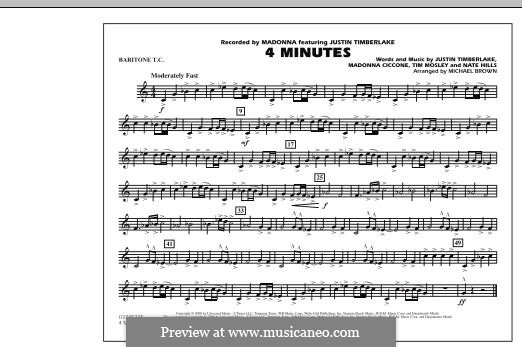 4 Minutes (Madonna featuring Justin Timberlake): Baritone T.C. part by Madonna, Floyd Nathaniel Hills, Timbaland