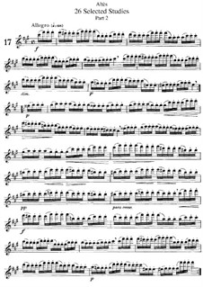 Twenty-Six Selected Studies for Flute: Movement II, No.17-26 by Joseph Henri Altes