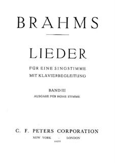 Песни для высокого голоса III: Песни для высокого голоса III by Иоганнес Брамс