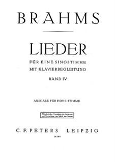 Песни для высокого голоса IV: Песни для высокого голоса IV by Иоганнес Брамс