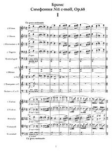 Симфония No.1 до минор, Op.68: Партитура by Иоганнес Брамс