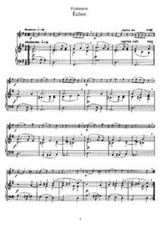 Échos: Для флейты и фортепиано by Жак Оттетер