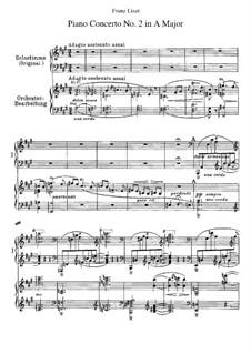 Концерт для фортепиано с оркестром No.2 (для двух фортепиано в четыре руки), S.651: Клавир by Франц Лист
