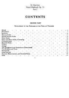 Методика пения, Op.31: Часть II by Матильда Маркези