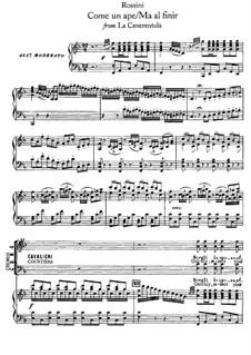 Золушка: Come un ape, for voices and piano by Джоаккино Россини