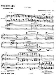 Три ноктюрна, L.91: Для двух фортепиано в 4 руки by Клод Дебюсси