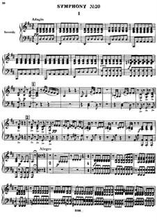 Симфония No.73 ре мажор 'Охота', Hob.I/73: Версия для фортепиано в 4 руки by Йозеф Гайдн