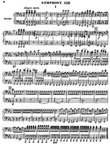 Симфония No.55 ми-бемоль мажор 'Школьный учитель', Hob.I/55: Версия для фортепиано в 4 руки by Йозеф Гайдн