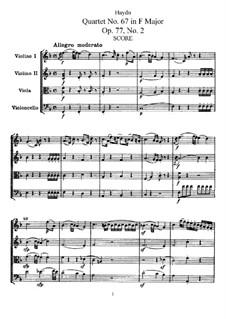 Струнный квартет No.67 фа мажор, Hob.III/82 Op.77 No.2: Партитура, Партии by Йозеф Гайдн
