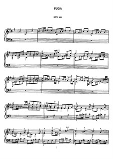 Фуга ми минор, BWV 956: Для фортепиано by Иоганн Себастьян Бах