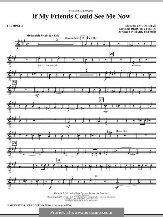 If My Friends Could See Me Now (from Sweet Charity): Trumpet 2 part by Cy Coleman