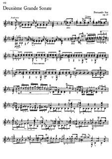 Большая соната для гитары, Op.25 No.2: Часть I by Фернандо Сор