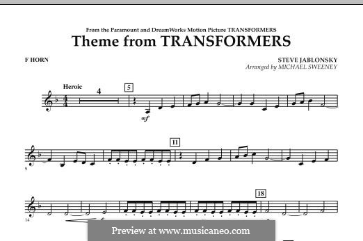 Theme from Transformers: F Horn part by Steve Jablonsky