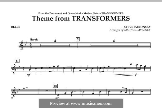 Theme from Transformers: Bells part by Steve Jablonsky