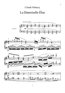 Дева-избранница, L.62: Клавир с вокальной партией by Клод Дебюсси