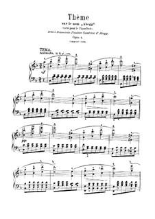 Вариации на тему 'Abegg', Op.1: Для одного исполнителя by Роберт Шуман