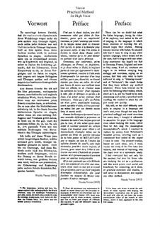 Практическая школа итальянского пения для высокого голоса: Немецкий и итальянский тексты by Никола Ваккаи