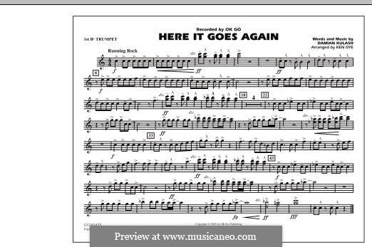 Here It Goes Again (OK Go): 1st Bb Trumpet part by Damian Kulash