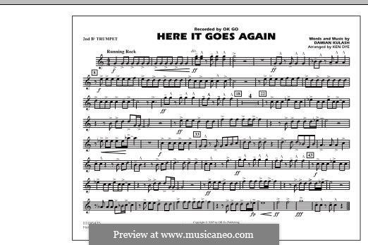 Here It Goes Again (OK Go): 2nd Bb Trumpet part by Damian Kulash