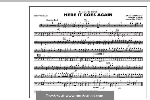 Here It Goes Again (OK Go): Electric Bass part by Damian Kulash
