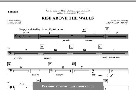 Rise Above the Walls: Партия литавр by Greg Gilpin