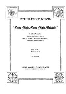 Good-Night, Good-Night, Beloved: Good-Night, Good-Night, Beloved by Ethelbert Woodbridge Nevin