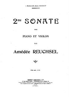 Соната для скрипки и фортепиано No.2: Партитура by Амедей Рёшcель