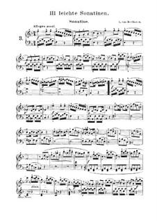 Три легкие сонатины: Сонатина No.3 by Людвиг ван Бетховен